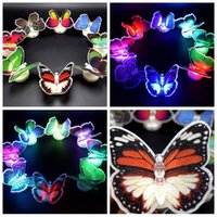Wholesale Lovely Creative Color Changing ABS Butterfly LED Night Lights Lamp Beautiful Home Decorative Wall Nightlights CCA5479