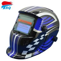Wholesale Super blue Motorcycle Race Blue Color Solar Auto Darkening Welding Helmet Welding Equipment TIG MIG Electric Welding Mask Cap