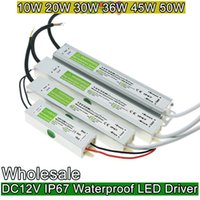 Wholesale DC V W W W W W W Waterproof ip67 Electronic LED Driver outdoor use power supply led strip transformers adapter