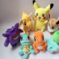 Wholesale 15 cm Poke Plush Toys Doll Pikachu Bulbasaur Squirtle Charmander Stuffed Animals Toys Cartoon Pocket Monster Soft Doll PPA631