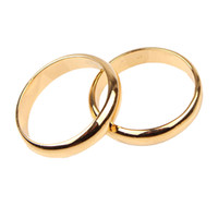 best mens rings - Mens Womens Vogue k ct Yellow Gold Filled Solid Smooth Band Ring Jewelry Best Gift For You