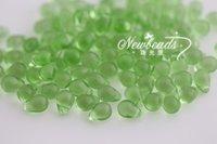 Wholesale Tear drop beads x8mm Transparent Color Peridot Czech glass beads jewelry accessory
