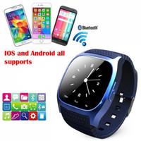 2016 Nouvelle montre intelligente Bluetooth Montres M26 pour iPhone Samsung HTC téléphone Android santé watchwatch femme 3g regarder gratuitement le téléphone DHL VS DZ09 U8