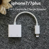 Wholesale Lamchin Loly in Earphone Audio Charge Adapter Cable Lighting to mm Jack Charger Converter for iphone plus with Packing