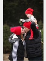 adult baby daddy - 3 Mom Daddy Baby family Hats Winter Crochet Knitting Warm Beanie Caps Family Matching Bonnet Headwear DHL