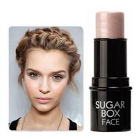 Wholesale Face Bling Makeup Highlighter Stick Shimmer Highlighting Powder Creamy Texture Silver Shimmer Light Brand Sugar box
