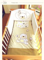 Wholesale European Pali bedding set four pieces crib bedding infant bedding cover bear cotton baby bumper pad