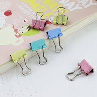 Wholesale 150pcs Colorful Metal Binder Clips Paper Clip mm Office Learning Supplies Color Random