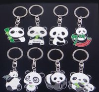 attraction custom gifts - China s direct sales Panda metal key chain tourist attractions advertising gifts custom logo key chain