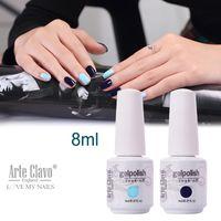 arte gel - ml Arte Clavo Choose Color Nail Art Supplies Gel Nail Polish Set Soak Off Nail Gel Colored UV Gel Polish
