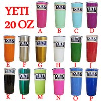 Wholesale 16 Colors Tumbler Rambler Cups Yeti Rambler Tumbler Stainless Steel oz Mugs Large Capacity Travel Mug