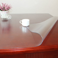 Wholesale Transparent durable pvc soft glass oil table cloth tablecloth dining table mat