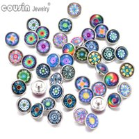 Wholesale 30pcs Mixed Colors tree exotic Butterfly Pattern mm snap button Jewelry Faceted glass Snap Fit snap Bracelet Jewelry
