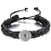 Acheter Bracelets de charme initiales-50 pièces en cuir véritable bracelet tressé Bracelet. Boucles d'oreilles personnalisées, Ginger Snap Charme Noosa Lettre initiale Zodiac Half Marathon