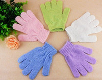 Wholesale Cloth Mitt Exfoliating Face or Body Bath Scrub Moisturizing gloves April Glove retail whcn