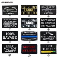 Wholesale 4 quot Whiskey Tango Foxtrot Motorcycle black guns just the tip EMBROIDERED PATCH Biker Vest punk rockabilly applique iron on patch