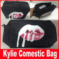 Wholesale in stock Kylie Jenner Make Up Bag Birthday Collection Makeup Bags Kylie Lip Kit Bag High Quality