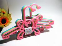 baby closet design - New Design Dumbo Small Elephant Children Clothes Hangers Anti slip Plastic Hanger for Baby Children Clothes Tie Belt Necklace PP Racks