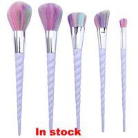 Wholesale Makeup Brushes Spiral Set Colorful Unicorn Brushes Professional Brushes Set High Quality Cosmetics WX B129
