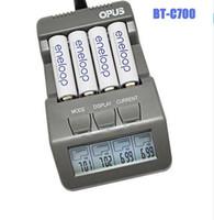 Wholesale Opus BT C700 níquel cádmio AA de níquel metal hidreto bateria LCD Digital Inteligente AAA16340 carregador de bateria