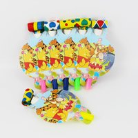 Wholesale pack Winnie the Pooh Theme Kid Birthday Party Paper Blowout For Party Supplies Decoration