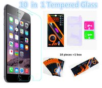 Wholesale 2 D H Tempered Glass Film Explosion Proof for iPhone s plus s c SE s Samsung S7 S6 Note5 S5 S4 ON5 J5 with Retai Box