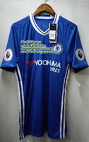 badge shorts - 10 hazard soccer running chelsea blue home jersey EPL badges player version top