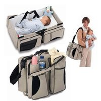 Wholesale 2 in Newborn Baby Portable Crib Nappy Mummy Bag Stroller Bags Multifunctional Collapsible Cribs traveloutdoor essential
