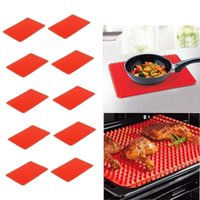 Wholesale Pyramid Pan Non Stick Reduce Fat Silicone Cooking Mat Oven Bake Tray Sheet BBQ Pyramid Pan