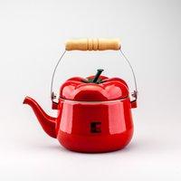CE / EU aluminum teapot - 1 L Enamel kettle tomoto shape dinerware teapot soup tools samovar electric kettle tetera pot Kitchenware soup bottle