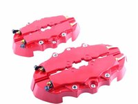 abs brakes - 4pcs Red ABS Front Rear Disc Brake Caliper Cover With D Brembo Universal Kit