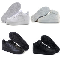 Wholesale 2017 the top quality NEW men fashion the high top white air Casual shoes black love unisex one euro