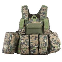 anti bullet vest - 10 Color Phantom Tactical Military Strike Battle Combat Airsoft Molle Bullet Assault Plate Carrier Vest Lightweight Comfortable B