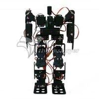 Precio de Bolas de rodamiento-Venta al por mayor- 17DOF Biped Robo Educativo Robot Kit Servo Bracket Rodamiento de Bolas con MG996R Servos Controlador