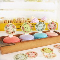 bakery table - quot For You quot Colorful Round Muffin Cupcake Card Picks Cupcake Toppers and Picks Pudding Bakery Dessert Table Decoration