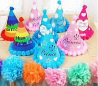 beauty party supplies - Cute Paper Ball Beauty Party Celebration Hats Birthday Festive Kid Party Decorations Supplies Children Loves