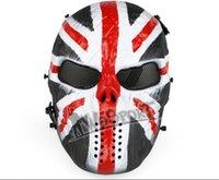H008354 CS Cráneo Esqueleto Full Face Tactical Paintball Proteger Seguridad Terror Máscara Halloween Cosplay Vestido Máscara Jagged horror accesorios