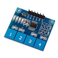 arduino capacitive sensor - High Quality pc Capacitive Touch Switch Module Digital TTP224 way Touch Sensor For Arduino DropShipping