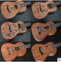 basic player - 21 inch Frets Mahogany Soprano Ukulele Guitar Uke Sapele Rosewood Strings Hawaiian Guitar for beginners or Basic players