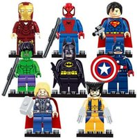 Wholesale KAWAII The Avengers Marvel DC Super Heroes Series Action Mini Building Block Figures Toys New Kids Gift