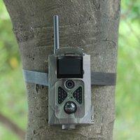 La caza cámara de exploración gsm Baratos-Cámara HD 2G GSM MMS GPRS SMS 12MP de la caza de la Venta al por mayor-Suntek HC500M Cámara infrarroja Scouting del rastro de la fauna del reconocimiento del grado PIR de 120 grados