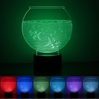 aquarium night light - 3D LED W Aquarium Light Night Color Changing Table Lamp USB Power Bedroom Decorative For Valentines Day rm