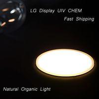 Wholesale Retail W Ultrathin Circle LED Panel Soft Warm White Eye Protect Organic Light Source Fast Shipping via UIV CHEM Tec