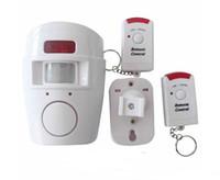 al por mayor alarma sin hilos del sensor de infrarrojos-Seguridad en el hogar PIR MP Alert Sensor Infrarrojo Anti-Theft Detector de Movimiento Alarm Monitor Sistema de alarma inalámbrico + 2 mando a distancia