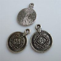 antique jewellry - Antique Silver Textured Small Dotts Round Coins Shape Charm Pendant For Jewellry Hand Craft DIY
