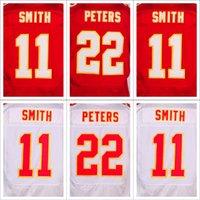 Compra Alex smith-Jerseys de fútbol Elite de calidad auténtica <b>Alex Smith</b> Marcus Peters Red Jersey blanca de casa Jersey EE.UU. Elite nacional de fútbol Jersey para los hombres