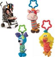 Wholesale Kids Baby Handbells Lathe Hanging Cartoon Plush Animals Educational Toys Bed Stroller Bells Developmental Toy cm KKA768