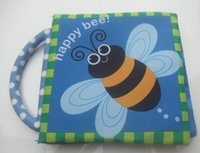 bee books - Development Intelligence Toys Baby Cloth Book with Rustle Portable Handle English Version Design Happy Bee