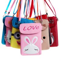 artwork stores - The stationery store supply new cartoon animal skin Pu vertical pocket girls Satchel