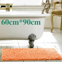 Wholesale home decoration chenille carpet doormat kitchen bathroom bath mats absorbent non slip mat tapete can be customized